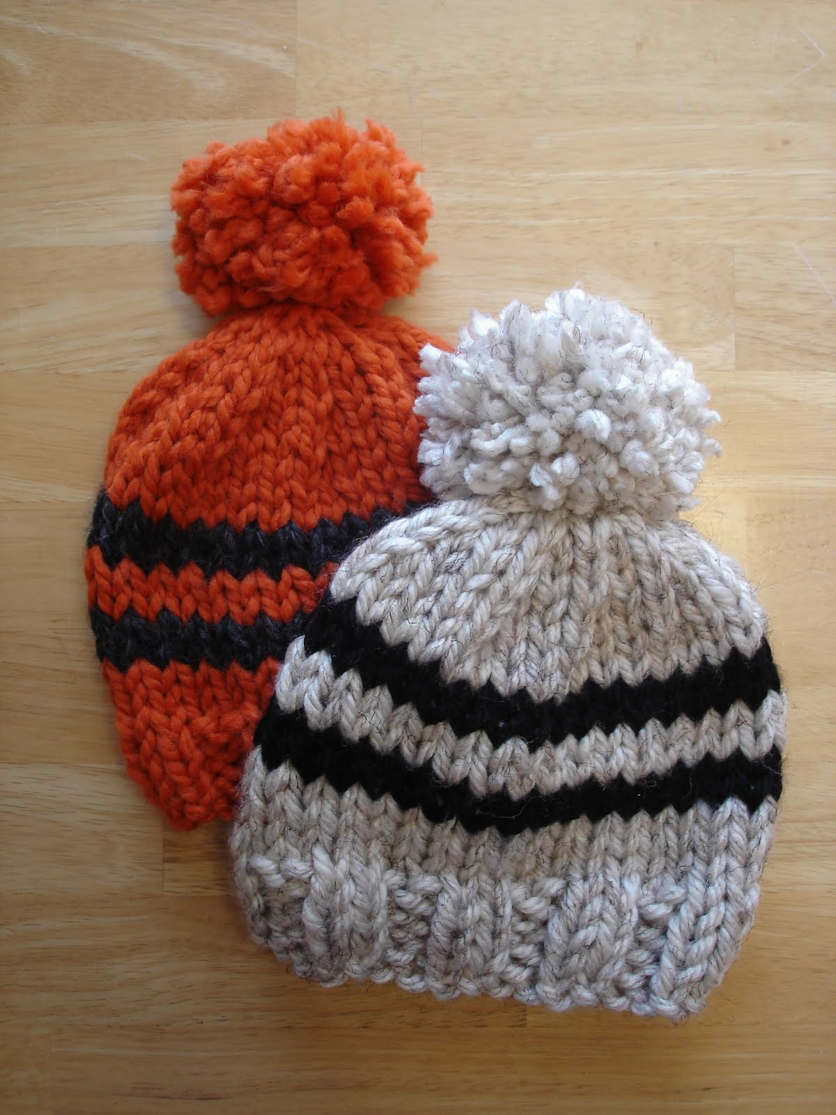 Knitting Pattern For A Toddlers Beanie : Fiber Flux: Free Knitting Pattern! Toddler Rugby Hat...