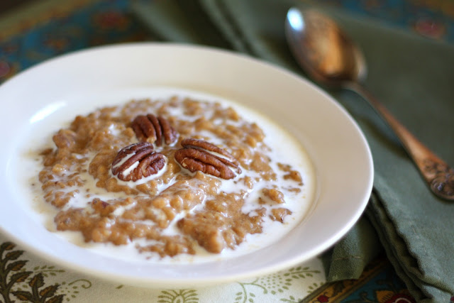Baked Pumpkin Spice and Toasted Pecan Steel Cut Oatmeal recipe by Barefeet In The Kitchen