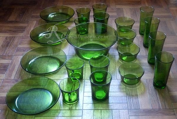 Retroalmacen tienda online de antig edades vintage y - Vajillas de cristal ...