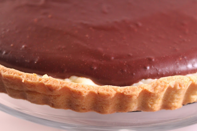 Chocolate-orange ricotta tart