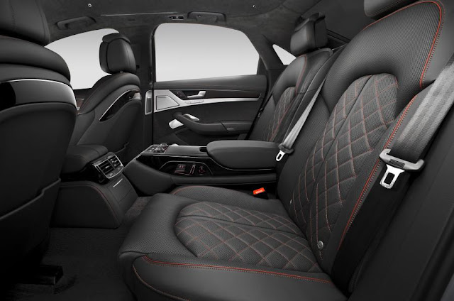 2015 new Audi S8 Plus comvertible with 597bhp interior back seat