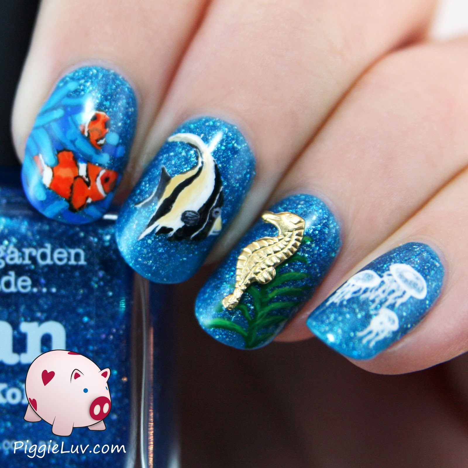 the gallery for gt sea life nail art