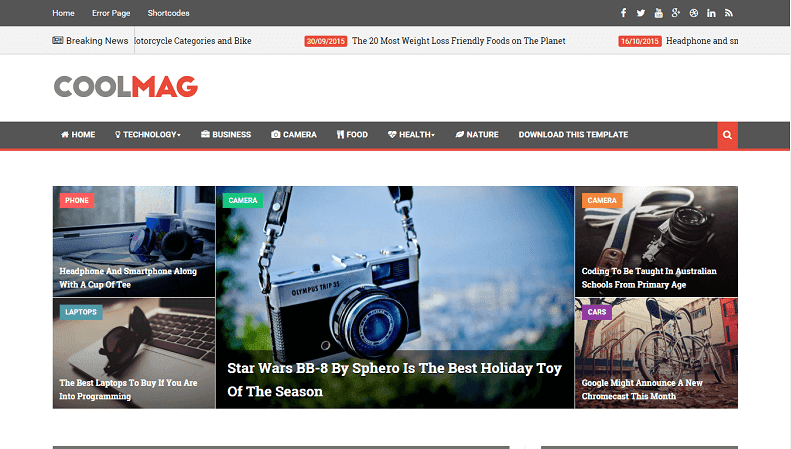 Download - Cool Mag - News & Magazine Blogger Template - Way ...