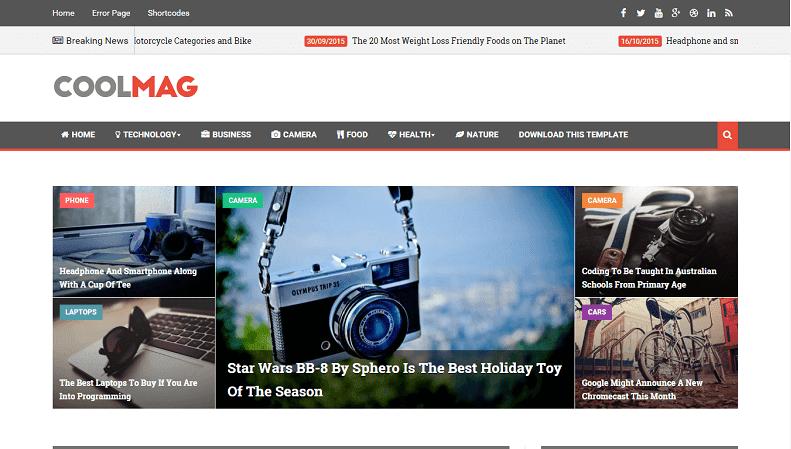 Chia sẻ Template Cool Mag (dạng tin tức)