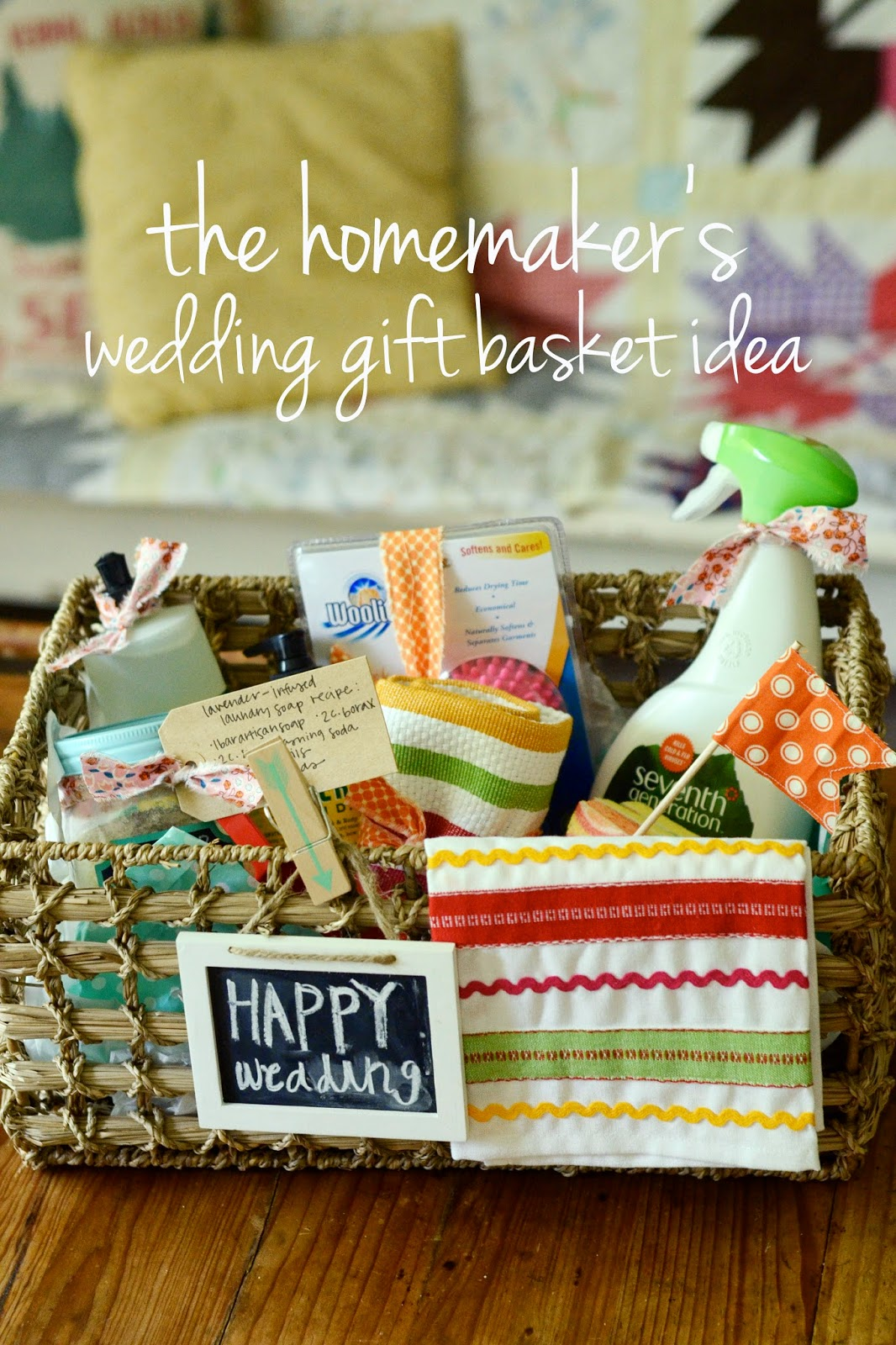 ... creates: the homemakers wedding gift basket idea for under USD25