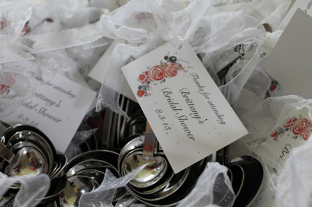 bridal shower favors, measuring spoon bridal shower favors