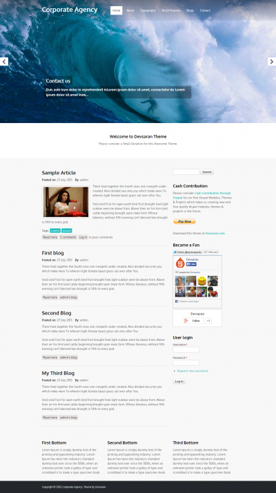 Corporate Agency - Free Drupal Template