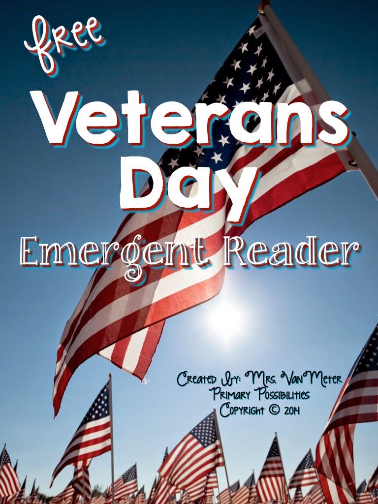 http://www.teacherspayteachers.com/Product/Veterans-Day-Emergent-Reader-Free-1542503
