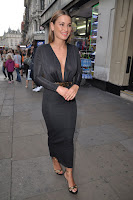 Sam Faiers in a clinging dress at RuPaul's Drag Race in London