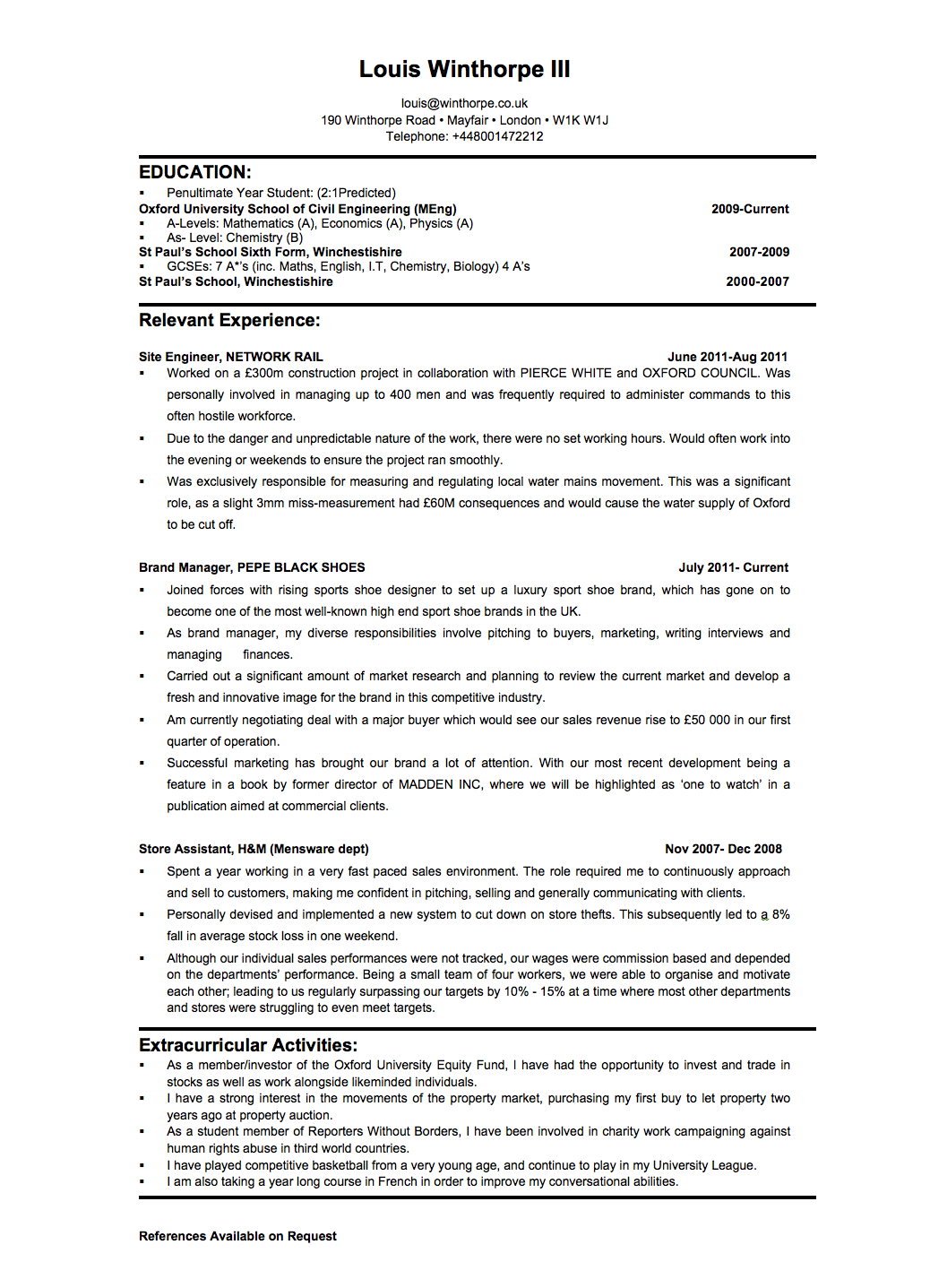 Cover letter sales analyst