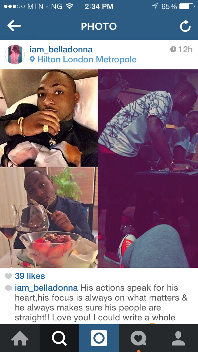 Davido is expecting his first child