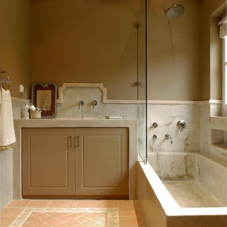 How to live like an omani princess design ideas arabian for Tadelakt bathroom ideas