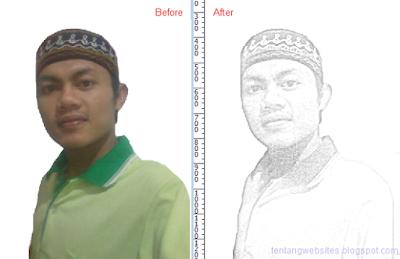 Cara buat photo sketsa dengan photoshop