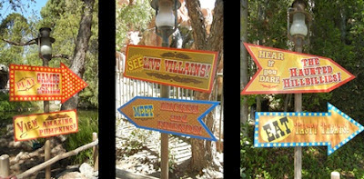 Signs for Halloween Carnival