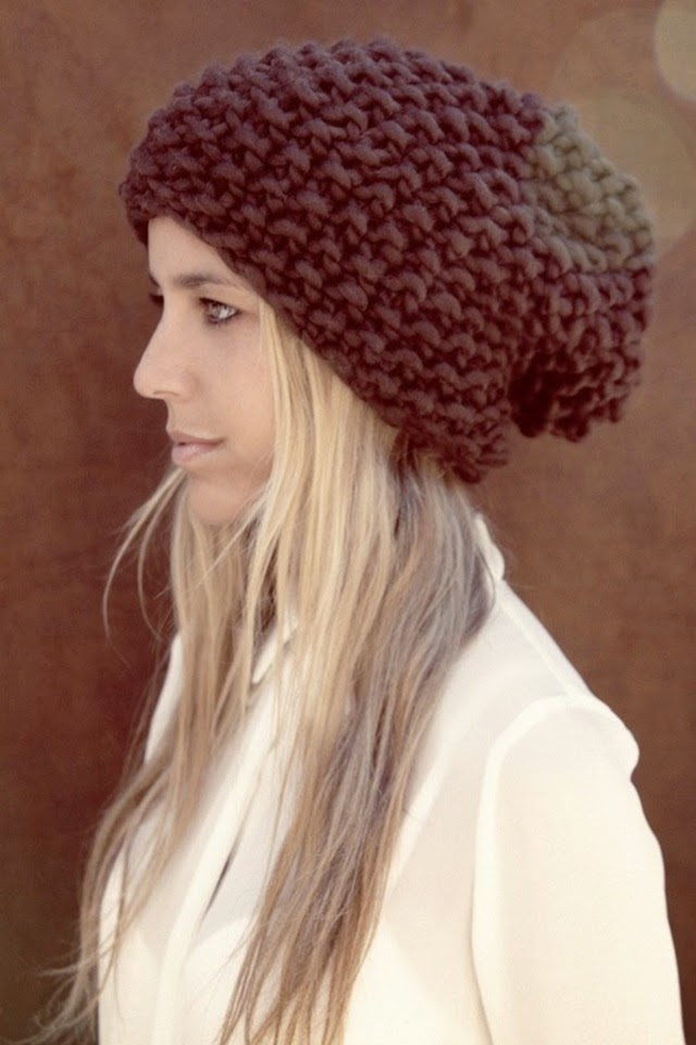 chunky knit beanie hat we are knitters winter style