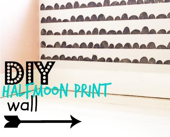 DIY halfmoon print wall