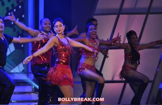 Kareena Kapoor Red short Dress - Kareena Kapoor Credai Awards Hot Dance Performance Pics