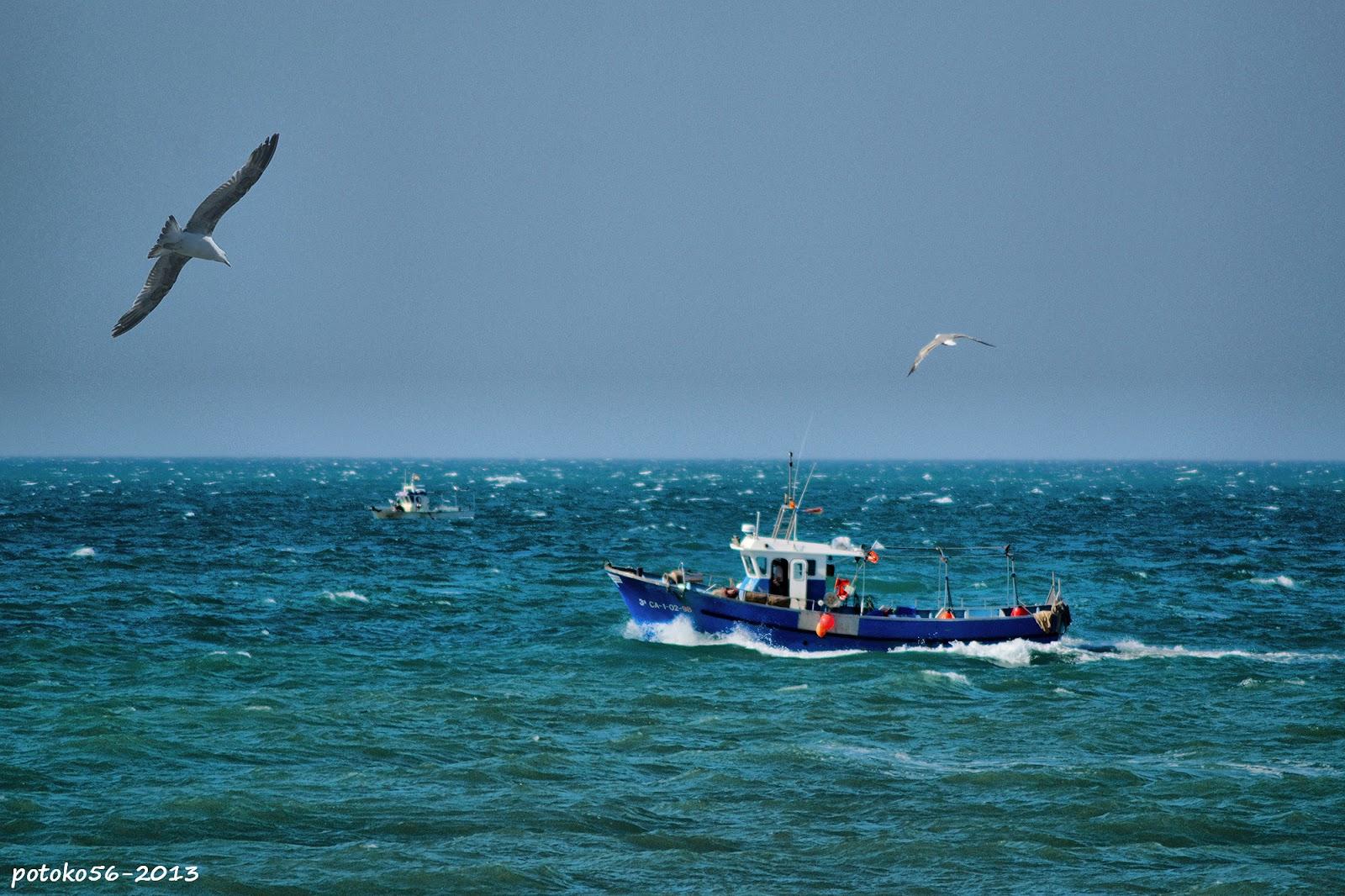 Barcos de pesca regresando a puerto Rota