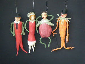 VEGETABLE PEOPLE ORNAMENTS