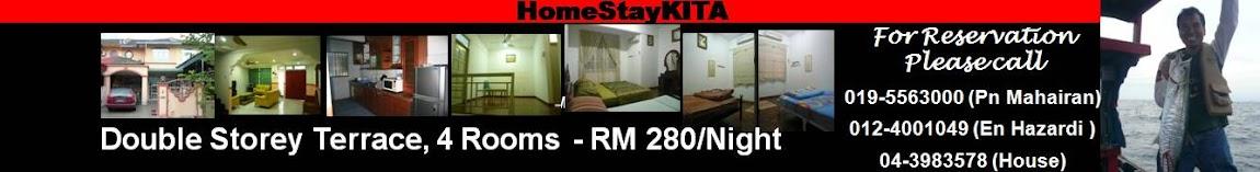 Muslim HomeStay kita Penang Pinang Butterworth Bukit Mertajam. Dbl storey terrace.