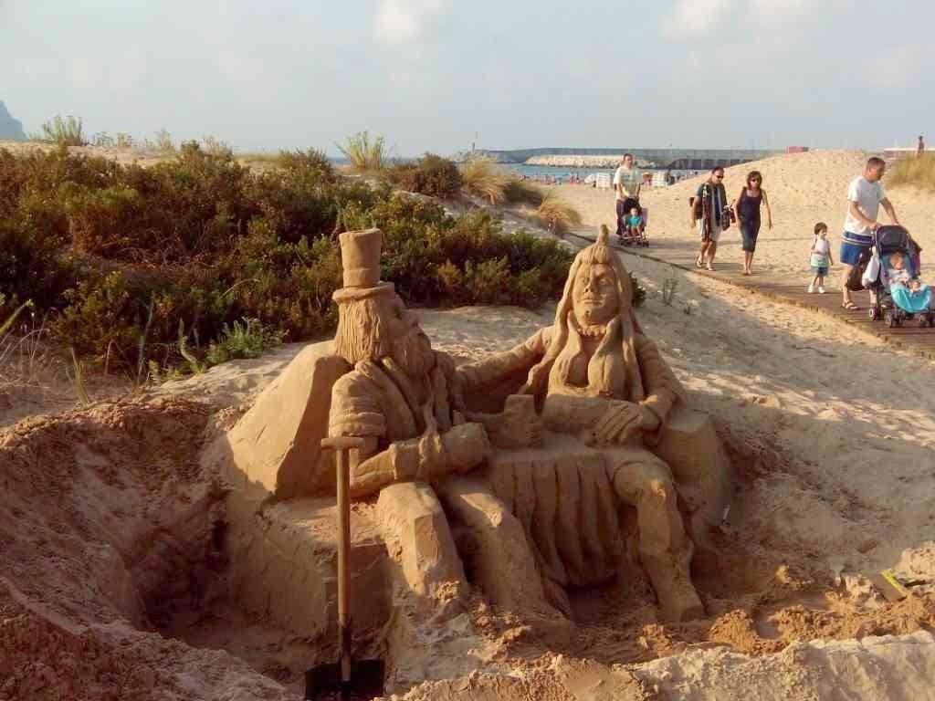artistas de playa