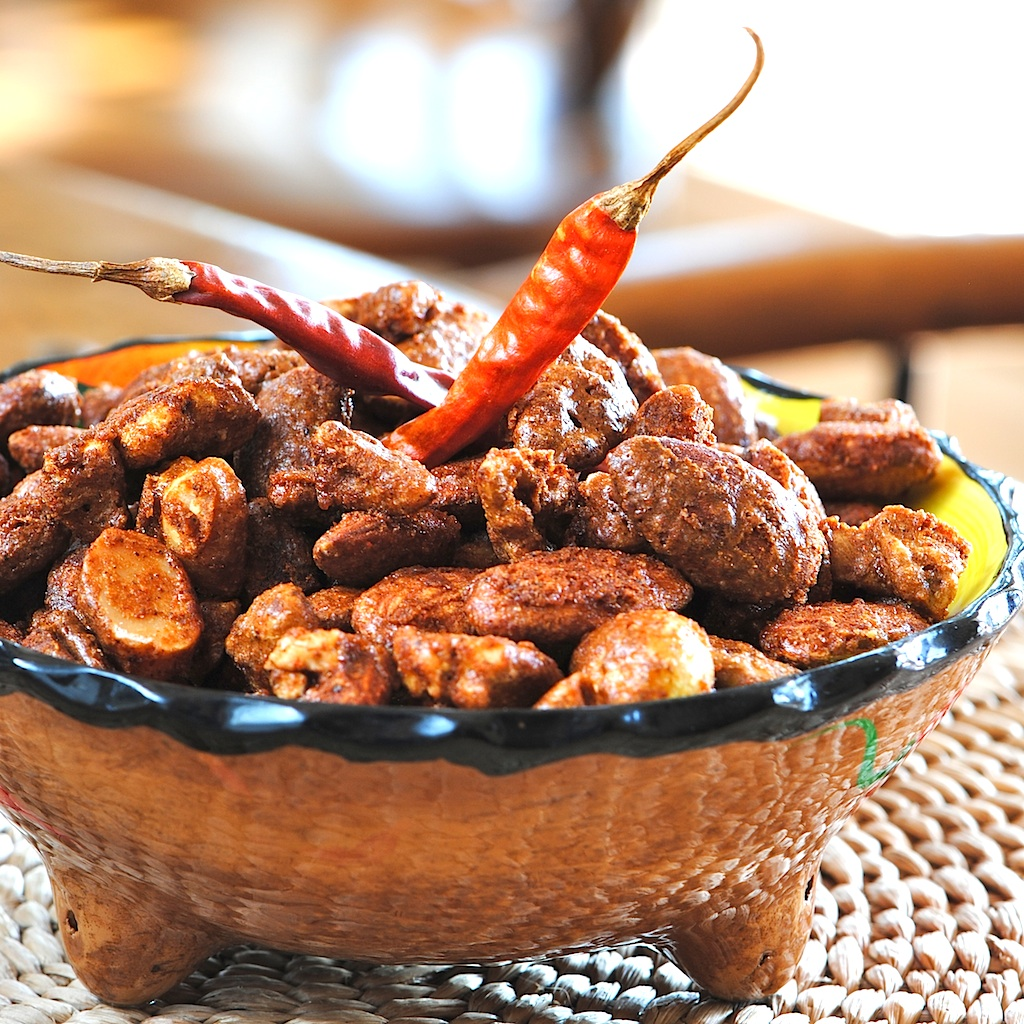 JULES FOOD...: Spicy Mexican Glazed Nuts