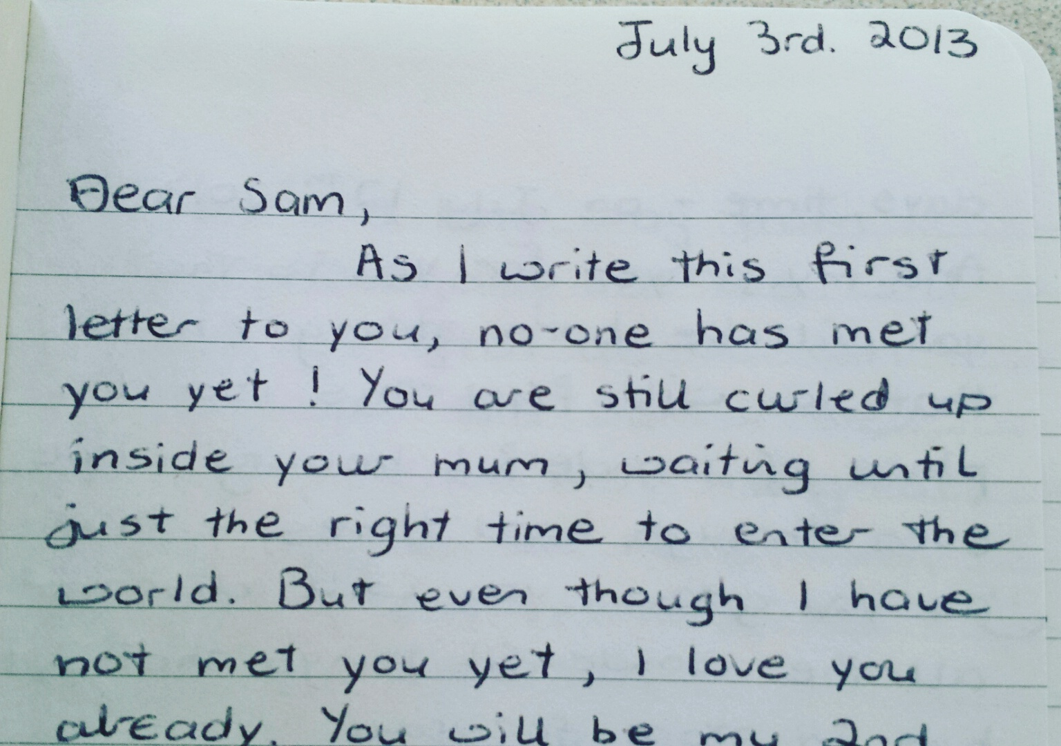 Romantic Letter to Lover