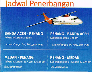 Jadwal Penerbangan Firefly Banda Aceh - Penang