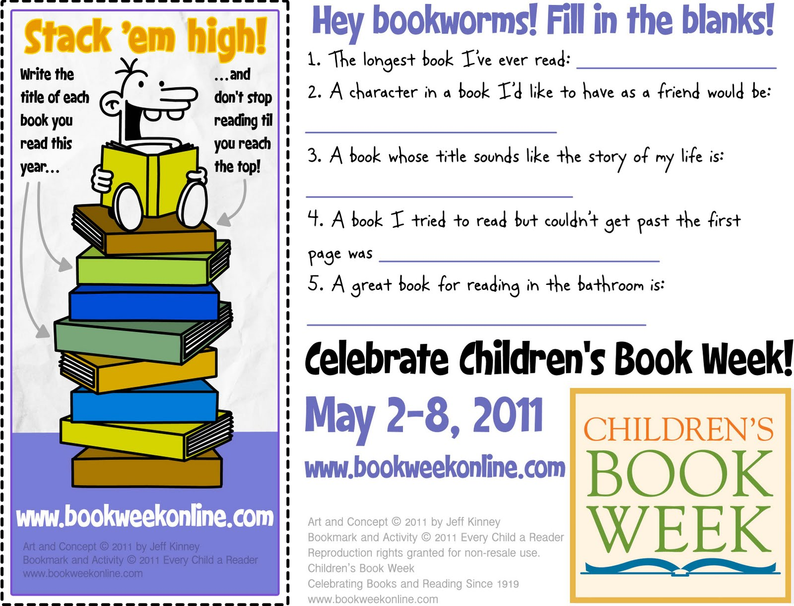 Bookmarks for Kids Word Search Book