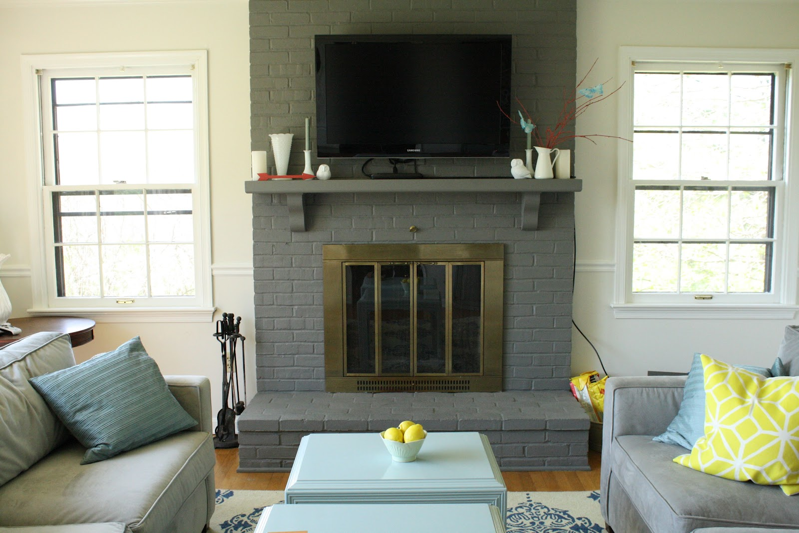 Repainting Fireplace Mantel 1600 x 1067