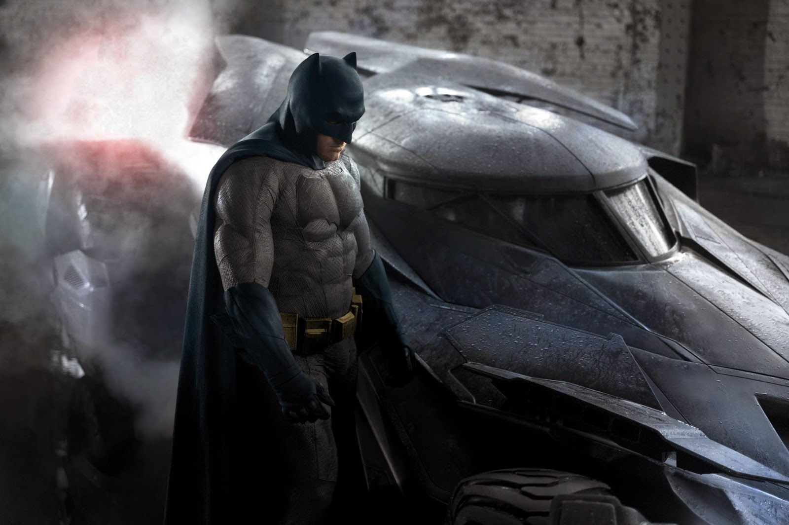 New Ben Affleck Batman Suit and Batmobile