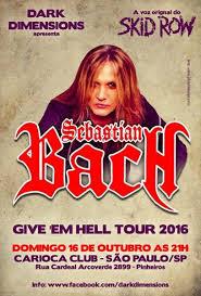Sebastian Bach BRAZIL tour 2016