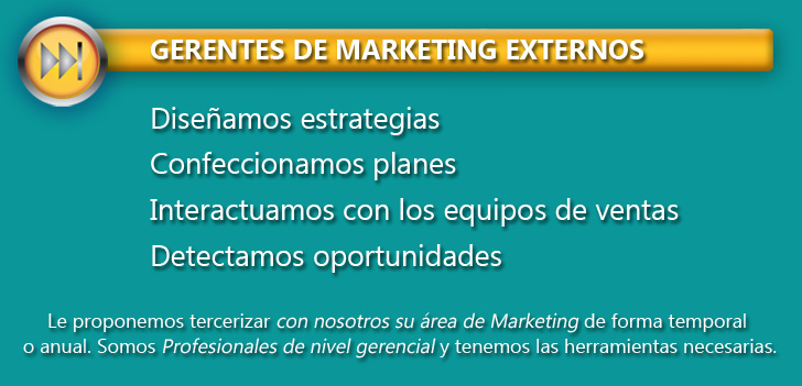 GERENTES DE MARKETING EXTERNOS
