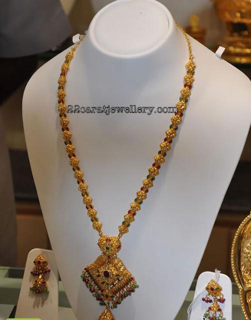 Gold Gundla Mala From Grt Jewellery Traditional Jewellery