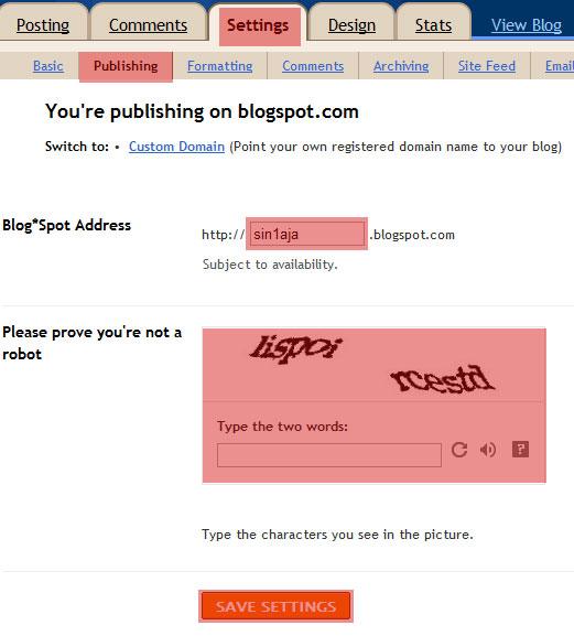 cara Ganti URL Blog
