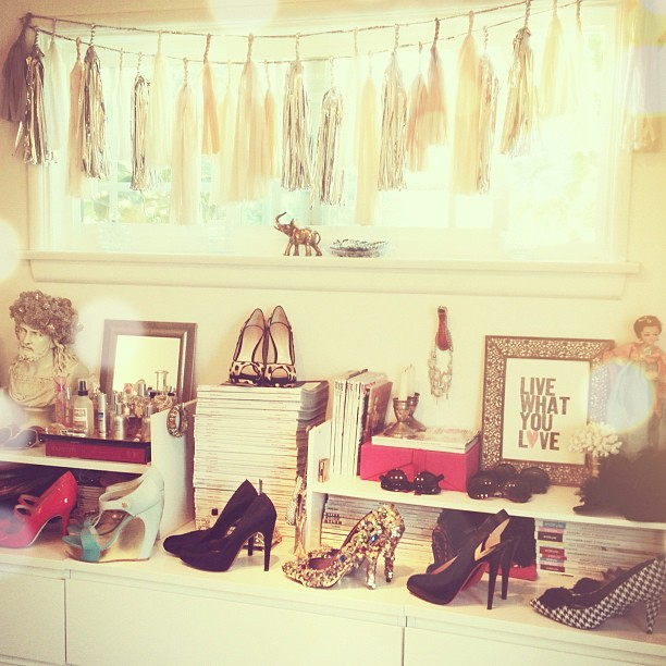 my home office, shoes on parade