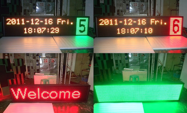 Outdoor Tri color Led Sign, programmable led display