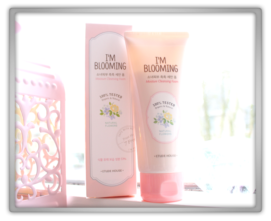 Etude House I'm blooming clear cleansing water moisture cleansing foam natural flowers pink haul review preview blogger