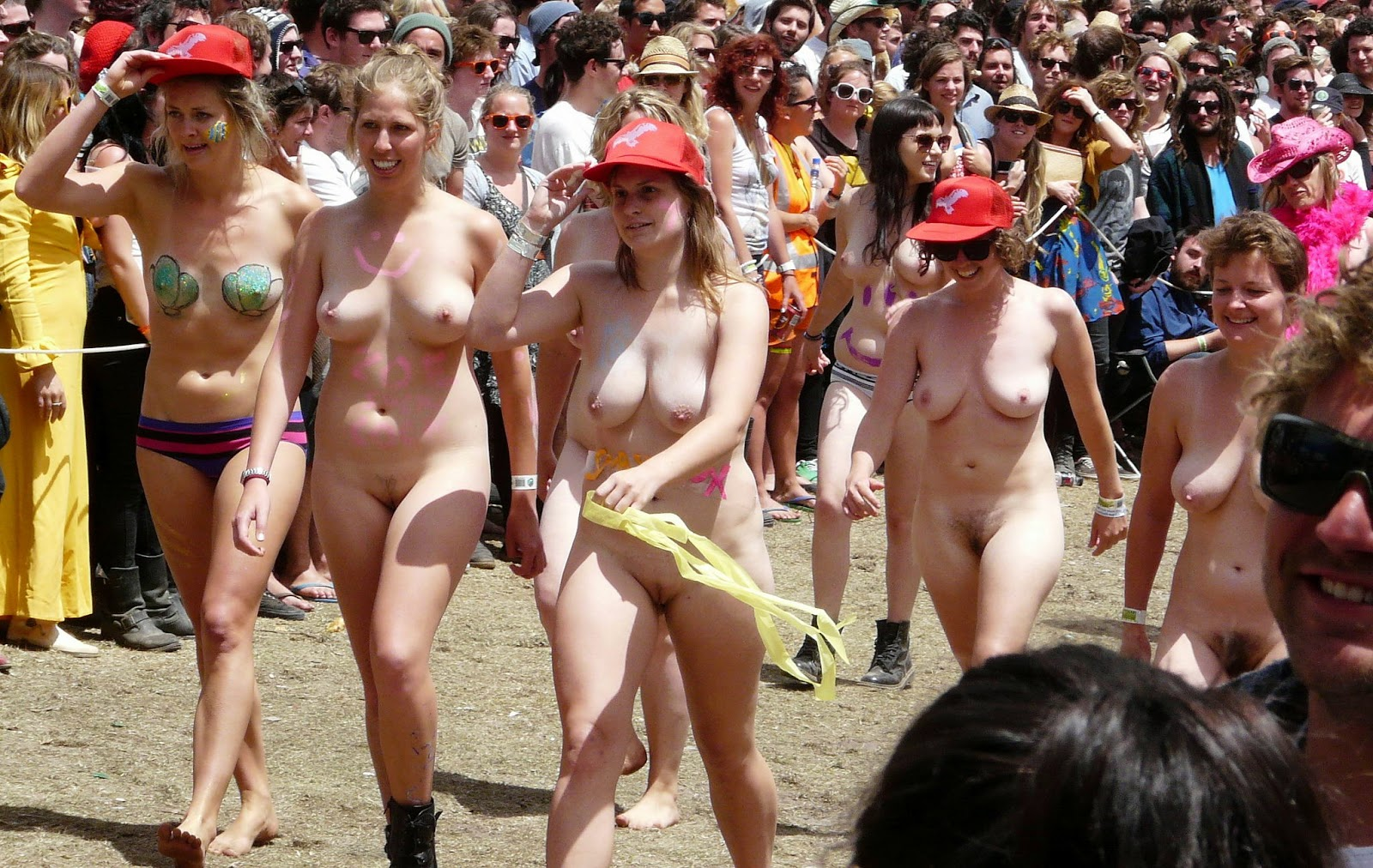 College naked run girl