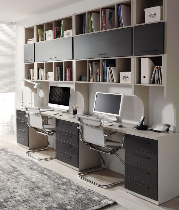 Dormitorio juvenil combinado en blanco pistacho y papaya - Mesas de habitacion ...