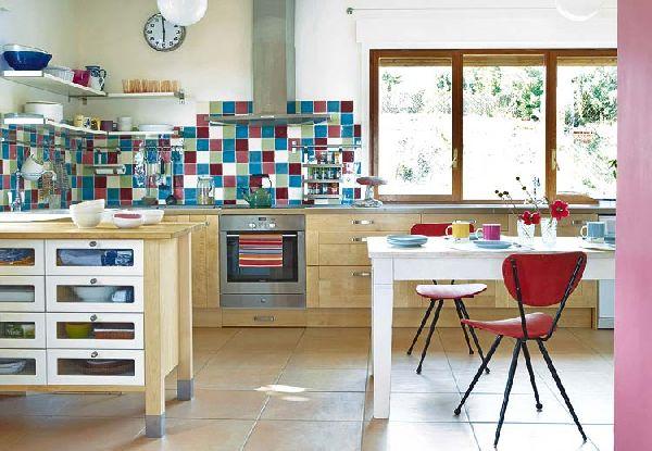 Cuisines color es de style vintage d cor de maison for Cuisine retro moderne