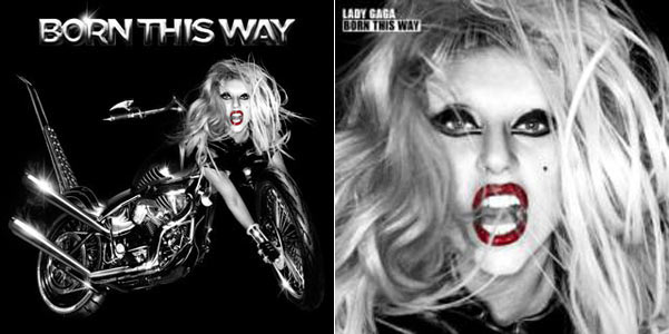 lady gaga born this way cover album. Her debut album The Fame was a