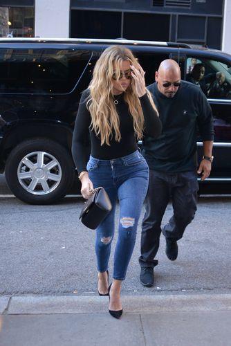 Khloe Kardashian displays toned curves