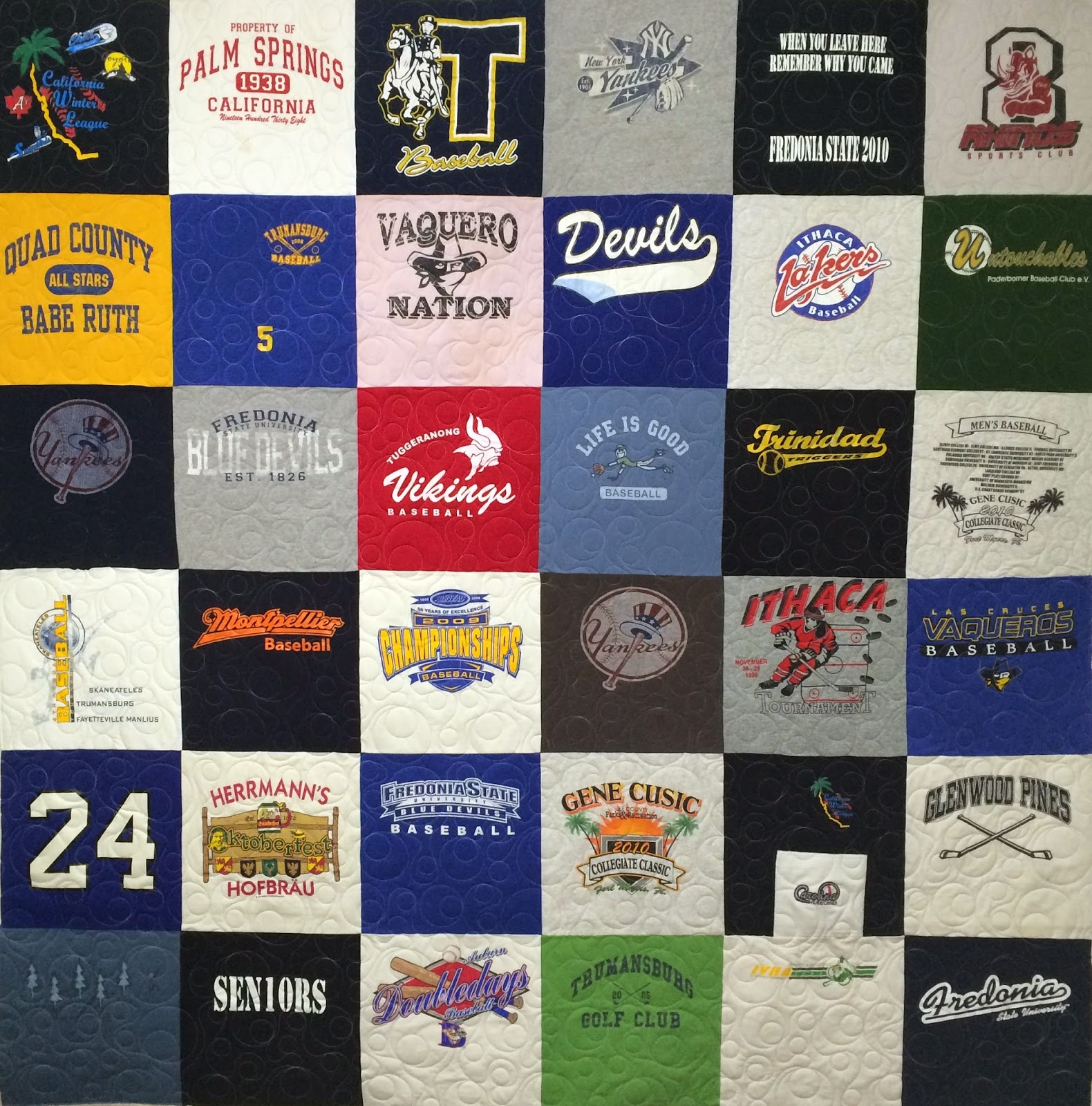 Kyle Hernandez's T-Shirt Quilt for her Dad