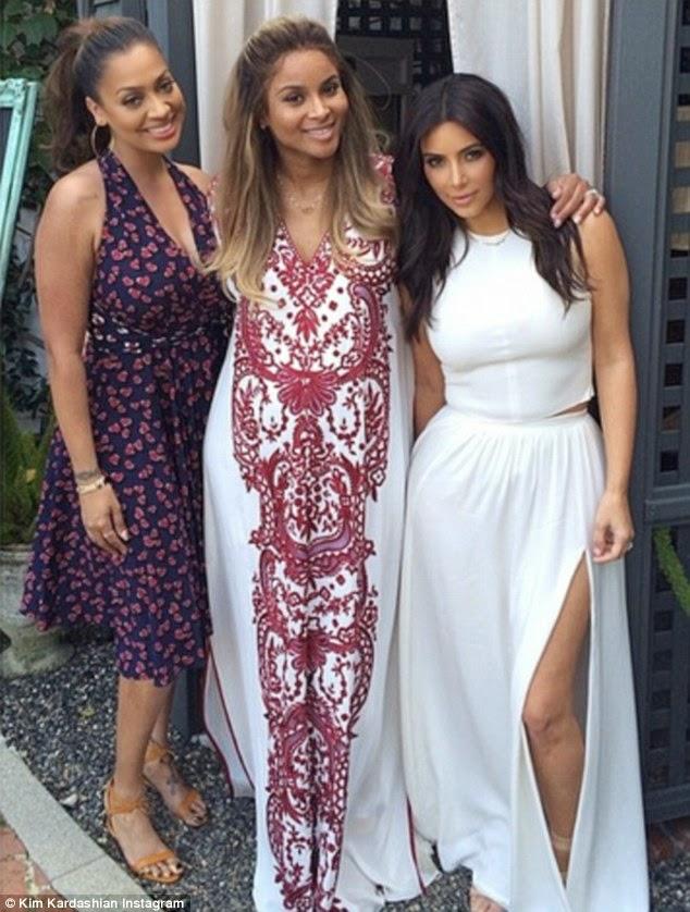 Kim Kardashian Kris Jenner Others At Ciaras Baby Shower Photos