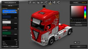 Scania RJL Red 8/ Power Skin