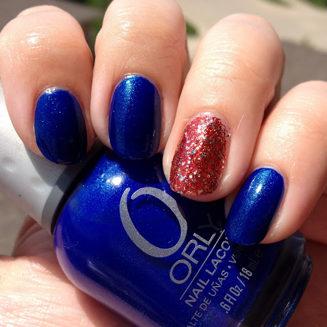 Orly Royal Navy with China Glaze Love Marilyn