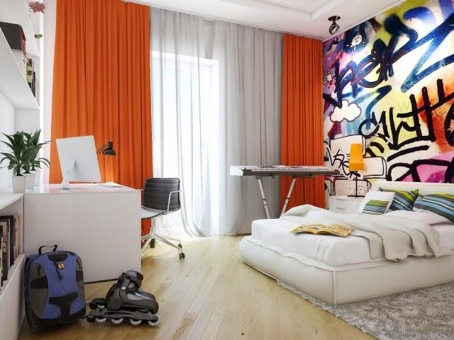 Habitaciones juveniles con paredes decoradas dormitorios - Decoracion habitacion joven ...