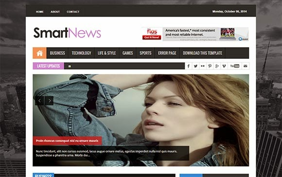 Smart news blogger template high quality free blogger templates wajeb Image collections