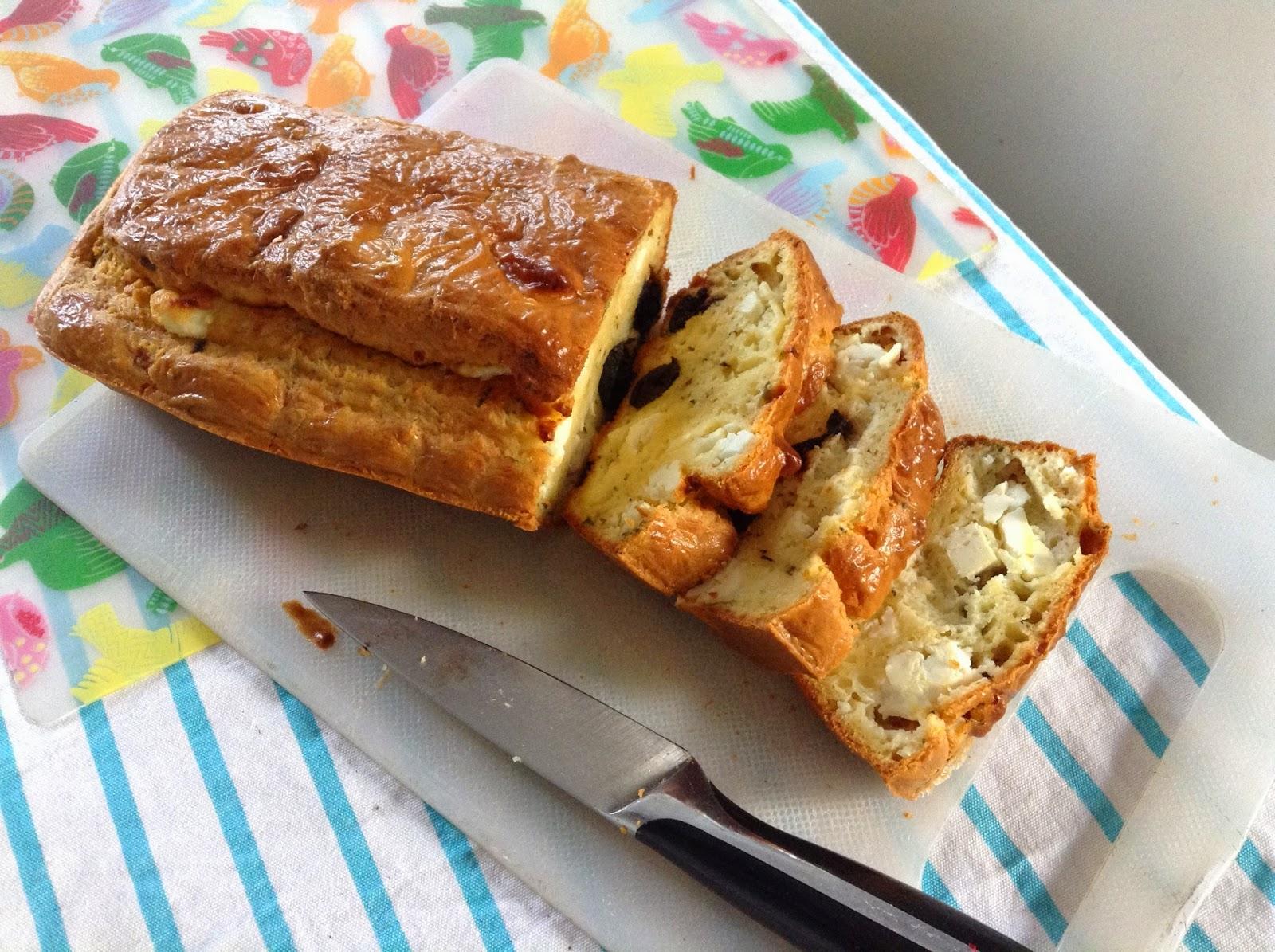 Cake Sale Olives Vertes Et Fromage De Brebis
